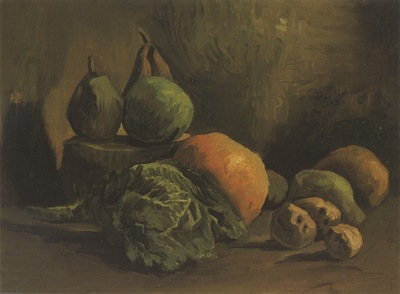 still life with fruit and vegetables, nuenen