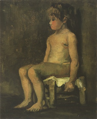 study of a nude girl, nuenen