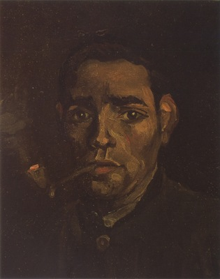 swains head with pipe, nuenen 1884