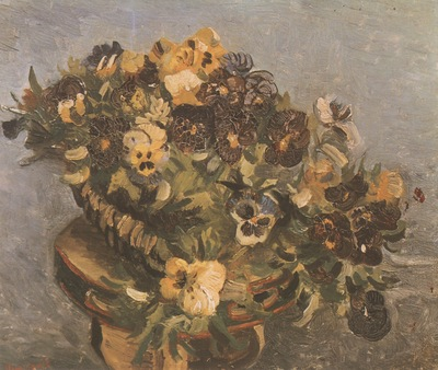 tambourine with pansies, paris