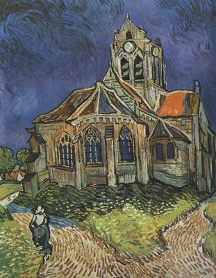 the church at auvers, auvers sur oise