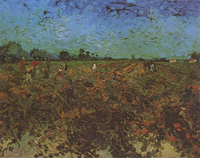 the green vineyard, arles