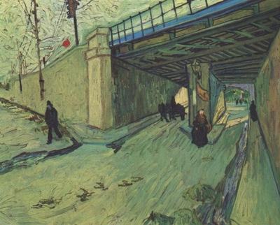 the railroad bridge over the montmajour avenue, arles