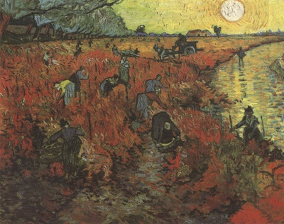 the red vineyard, arles