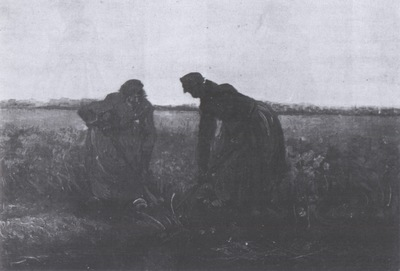 two female peasants digging, nuenen