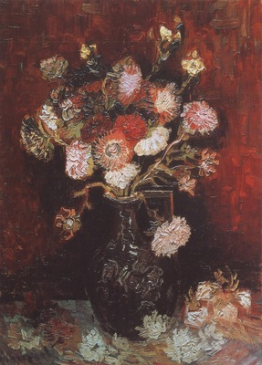 vase with asters and phlox, paris