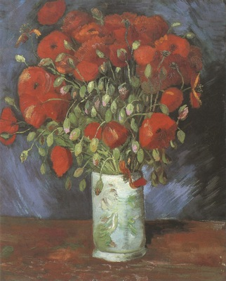 vase with poppies, paris