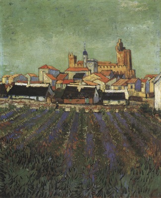 view of saintes maries, arles