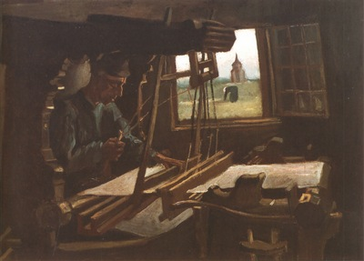 weaver, near a open windows, nuenen