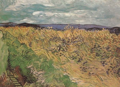 wheatfields with loios, auvers sur oise