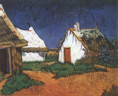 white cottages at saintes maries, arles