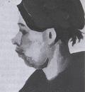 female peasants head with dark coif, nuenen