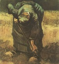 female peasant digging, nuenen