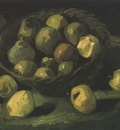 still life with basket of apples, nuenen