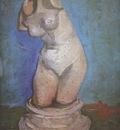 plaster statue of female front, nuenen