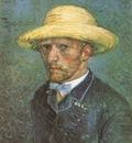 self portrait with straw hat, paris