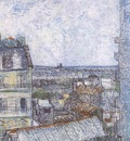 view of paris from vincents room in the lepic street, paris