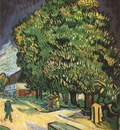 chestnut trees in blossom, auvers sur oise