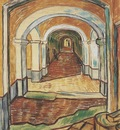 corridor at saint pauls hospital, saint remy