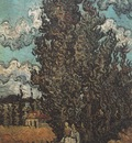 cypresses and two women, saint remy