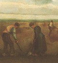 farmers planting potatoes, nuenen