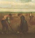 farmers planting potatoes, nuenen