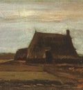 farmhouses with stacks of peat, drente