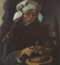 female peasant peeling potatoes, nuenen