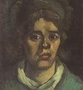 female peasants head, with dark coif, nuenen