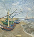 fishing boats on the beach at saintes maries, arles