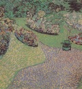 garden in auvers, auvers sur oise