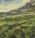 green wheat field, saint remy