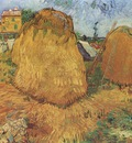 haystacks in provence, arles