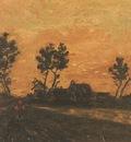 landscape at dusk, nuenen