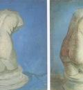 plaster statues of female back, nuenen