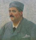 portrait of man with cap, paris 1886