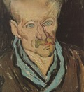 portrait of a patient in saint pauls hospital, saint remy