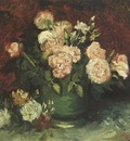 pot with peony and roses, paris