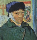 self portrait with linked ear, arles