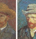 self portraits with hat, paris 1887