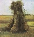sheaves of wheat in the field, nuenen