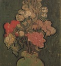 still life, vase with hollyhock, auvers sur oise