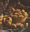 still life with clay bowl and potatoes, nuenen