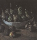 still life with clay cup and pears, nuenen