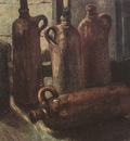 still life with five bottles, nuenen