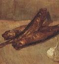 still life with kippered herring and garlic, paris