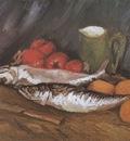 still life with mackerel, lemons and tomatoes, paris