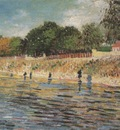 the banks of the seine river, paris