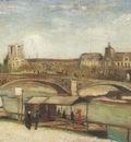 the carroussels bridge and the louvre, paris