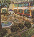 the courtyard of the arless hospital, arles